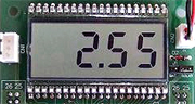MSP430F評価ボードVMSP430-F47177 電圧表示モード