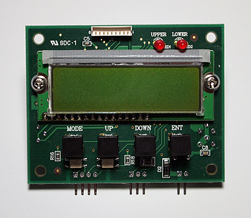 ペルチェコントローラ機器組込み用ボードタイプLCD温度設定表示器