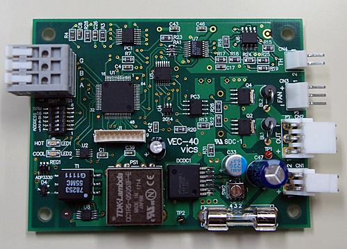 ペルチェコントローラ組込みボードタイプVEC-40