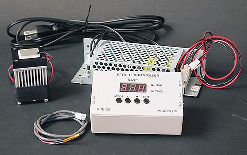 ペルチェ温度コントローラセット「VPE20-5-20TS」