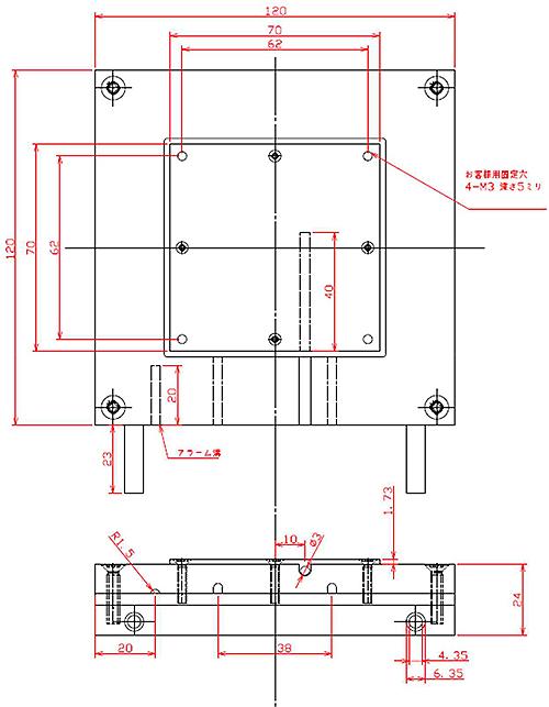 水冷式冷却ユニットWLVPU-40外形図
