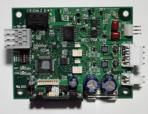 ペルチェコントローラ組込みボードタイプVEC-70
