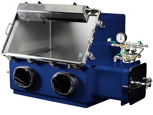 小型低温恒温器付フロー型グローブボックス
