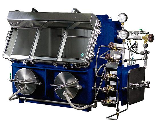 温調機付真空型グローブボックスGBWLVPU70-5K-V080