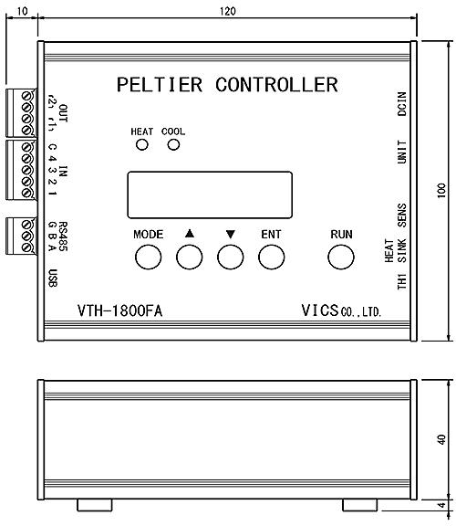 ペルチェ温度コントローラセットVTH3.1K-70S