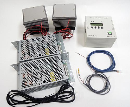 ペルチェ温度コントローラセットVTH3.1K-70S冷却加熱兼用プレート