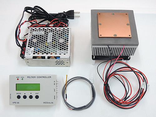 ペルチェ温度コントローラVPE35-12V40S