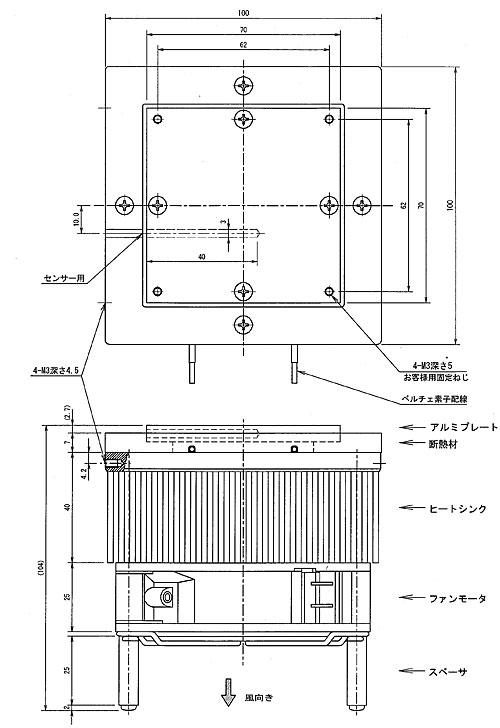 低電圧電子冷却ユニットLVPU-40